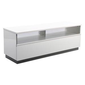 Decibel TV-bänk 125 med sockel - Vit Högblank