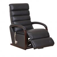 Lazboy Norman reclinerfåtölj i skinn - Svart