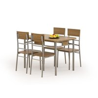 Cassandra Matgrupp i Valnöt - Bord inklusive 4 st stolar