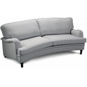 Howard Deluxe 4-sits sv�ngd soffmodell - Randig Bl�/Vit