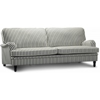 Howard Deluxe 4-sits soffa - Randig Svart/Vit
