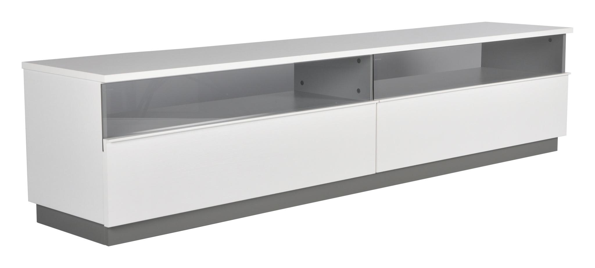 Decibel TV-bänk 200 med sockel - Vit Melamin