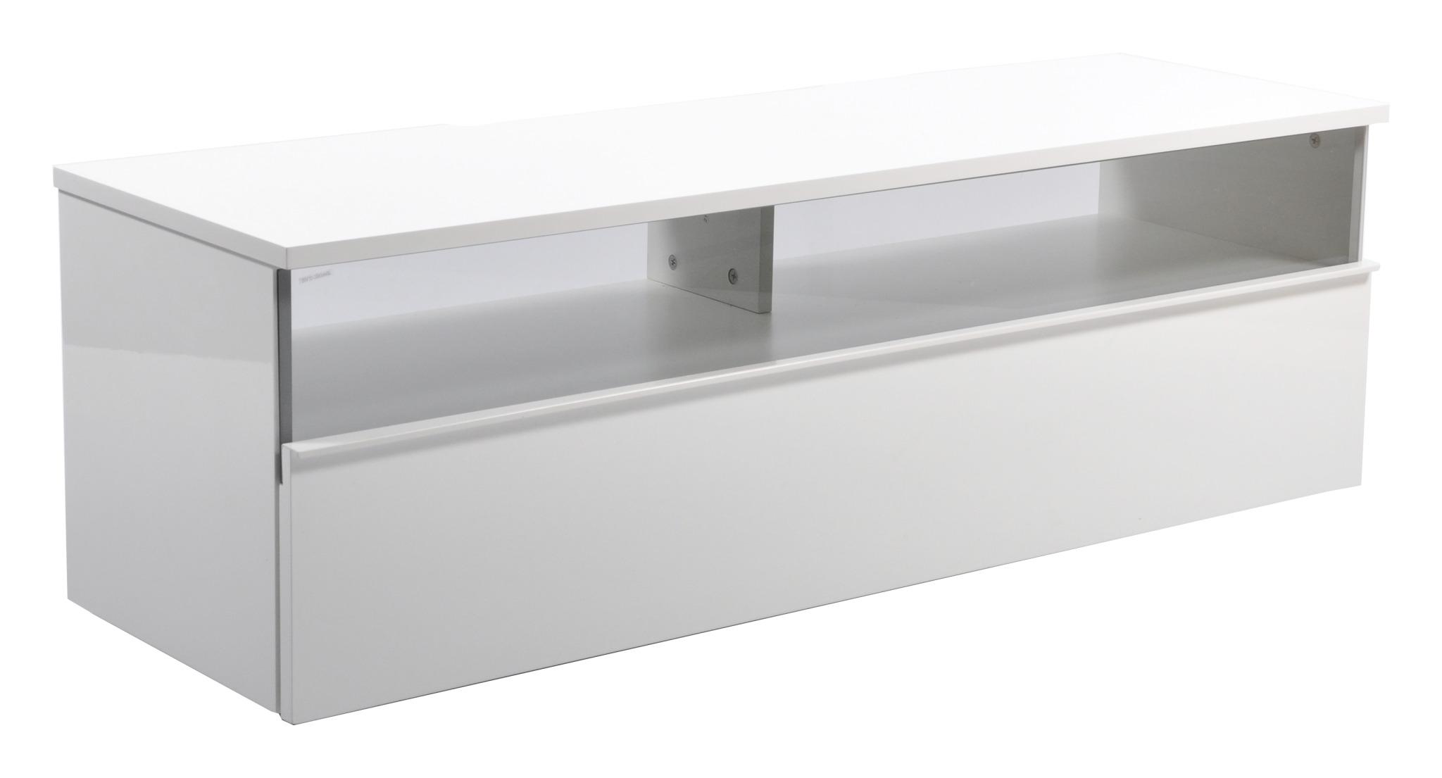 Decibel TV-bänk 125 Vägghängd - Vit Melanin