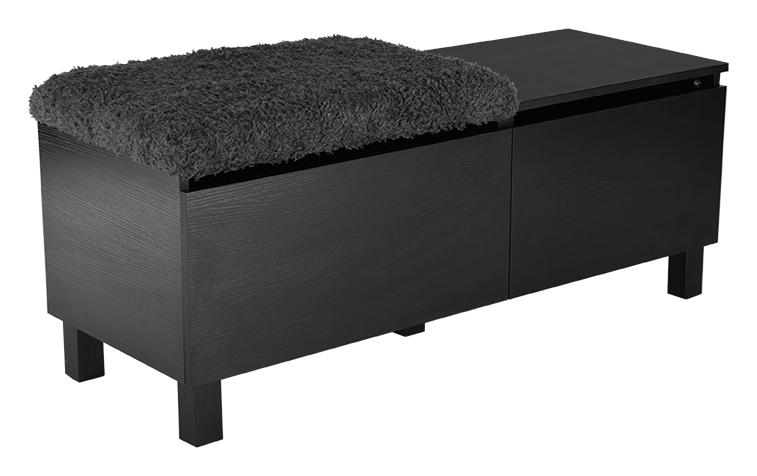 Box sittbänk stor - svart