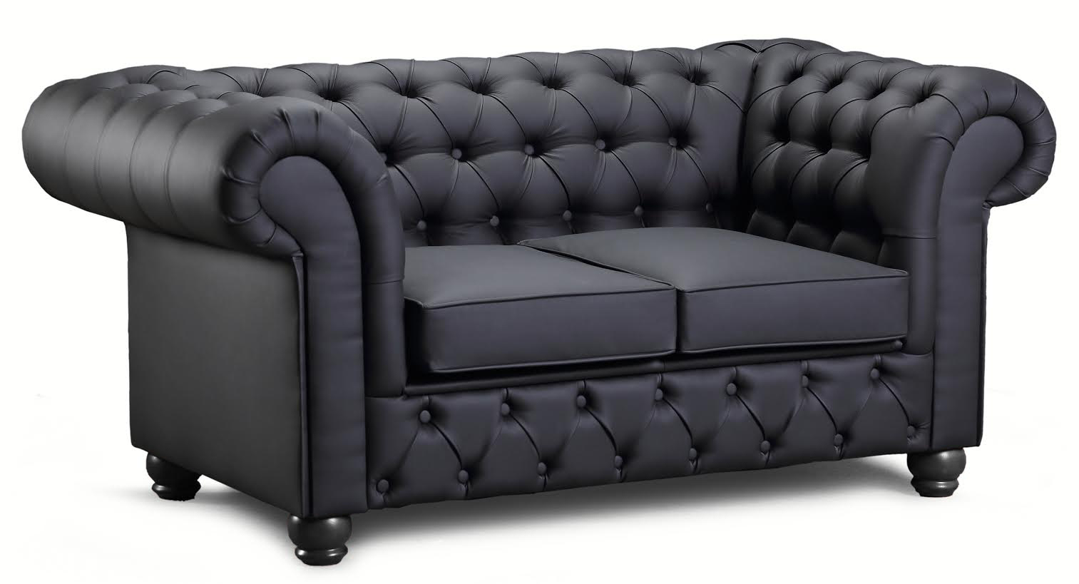 Chesterfield New England 2-sits soffa i tyg