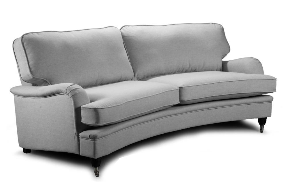 Howard Oxford 4-sits Svängd soffmodell - Ljus grå