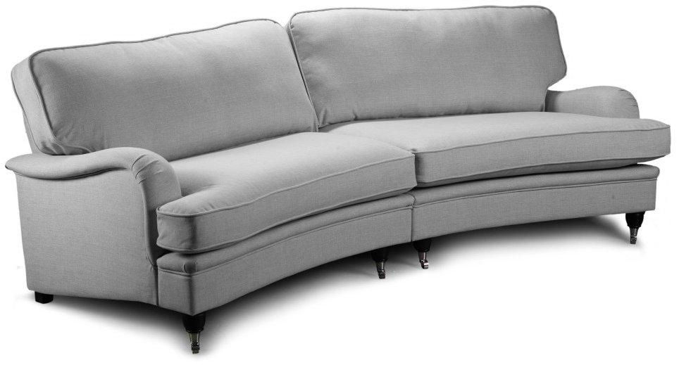 Howard Oxford 5-sits Svängd soffmodell - Ljus grå