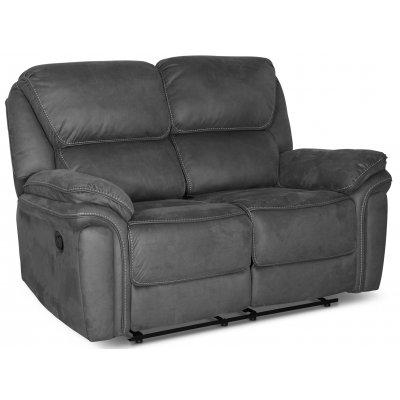 Riverdale recliner soffa 2-sits - Grå (Micorfiber)