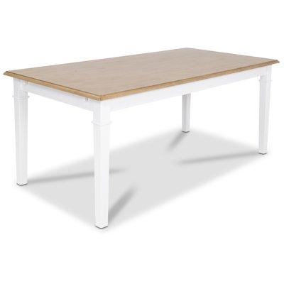 Ramnäs matbord 180 cm - Vit/ekbets