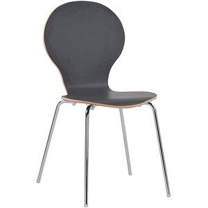 Bailey stol - Grafitgrå/krom