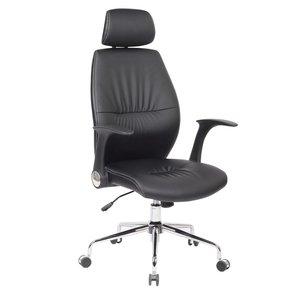 Tim kontorsstol med nackstöd - Svart / krom