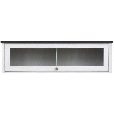 Salvador väggskåp - Vit/svart/Glas