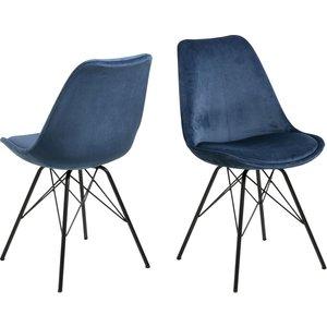 Eris Matstol - Marinblå/svart
