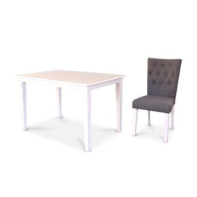 Sofiero matgrupp - Bord inklusive 4 st stolar - Vit