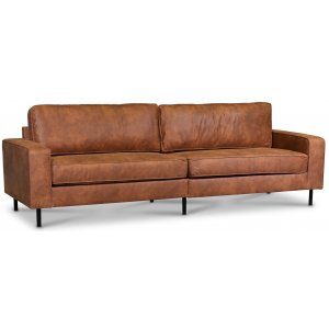 Sandö 3,5-sits soffa 260 cm - Cognac ecoläder