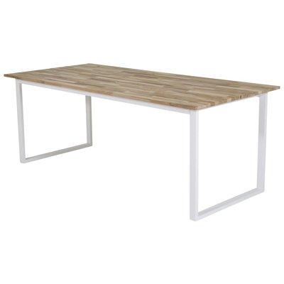 Matbord Regald 200 cm - Vit / Ljus teak