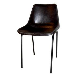 Säffle stol - Metall/läder