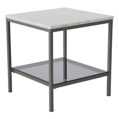 Ascot soffbord 50 - Ljus marmor / grå