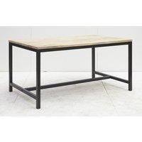Tessa matbord 220 cm - Svart/trä