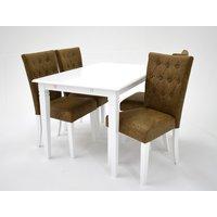 Sofiero matgrupp - Bord inklusive 4 st Crocket stolar - Vit