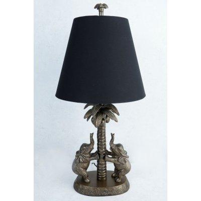 Elefant Bordslampa med skräm - Vintage