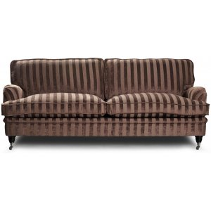 Howard Sir William 3-sits soffa (Dun) - Mobus Chocolate Stripe