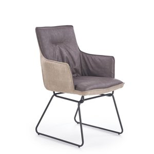 Leroi matstol - Ljus grå/Mörk grå