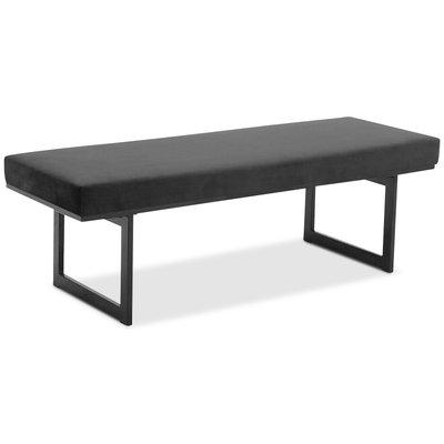 Simple sittbänk - Svart sammet