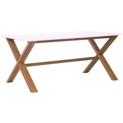 Artic matbord 140 cm - ek / vit