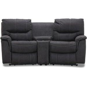 Rom Biosoffa - 2-sits recliner (el) i grått microfibertyg