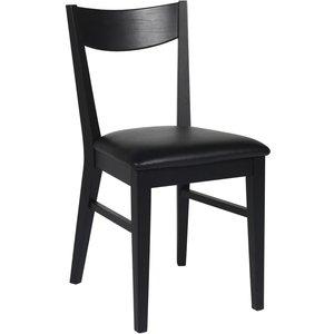 Kinley stol - Svartbetsad ek/konstläder