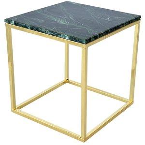 Accent lampbord - Grön marmor / Mässing