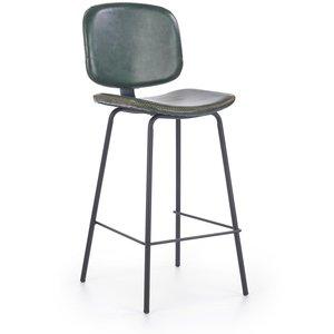 Audra barstol - Mörkgrön/svart