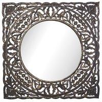 Carve spegel 80 cm - Antik träfärg