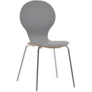 Bailey stol - Ljusgrå/krom