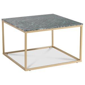 Accent soffbord 75 - Grön marmor / Matt mässing & 3490.00