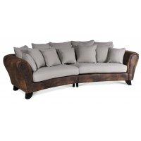 Western 4-sits svängd soffa - Vintage / Beige
