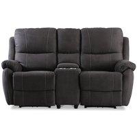 Enjoy Hollywood Biosoffa - 2-sits recliner (el) i antracit microfibertyg