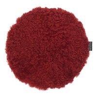 Curly stolsdyna fårskinn - Röd
