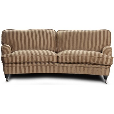 Howard Sir William svängd soffa (Dun) - Mobus Darkbeige Stripe