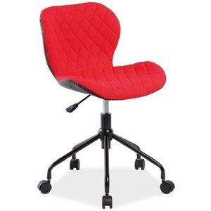 Skrivbordsstol Krystal - Svart/röd