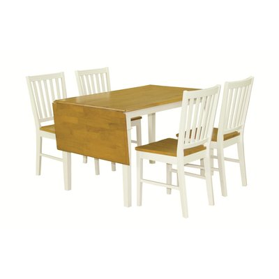 Åminne matgrupp - Bord inklusive 4 st stolar - Vit/ek