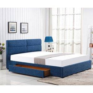 Thore säng med förvaring - Blå (Chenille)