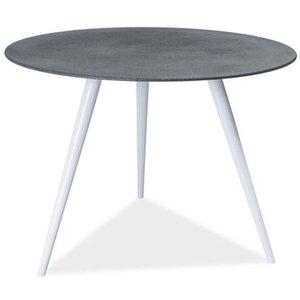 Dulce cafébord - Grå/vit