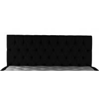 Svart sänggavel inkl väggfäste - 180 cm