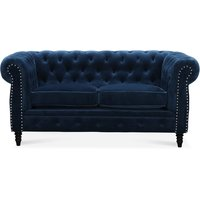 Chesterfield Cambridge 2-sits soffa - Blå sammet