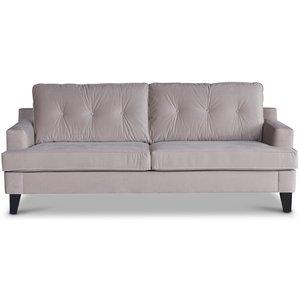 Space 3-sits soffa - Beige Sammet