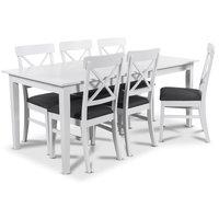 Balder matgrupp 180 cm bord med 6 st Elisa matstolar