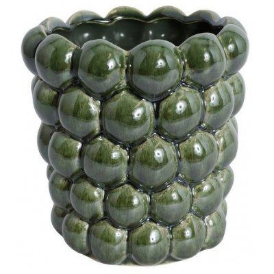 Kruka Big Bouble H16 cm - Grön (Glansig)