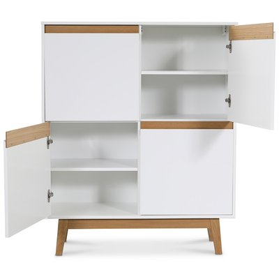 Century highboard - Vit/ek